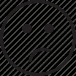emoji, emotions, nah, smiley, thinking icon