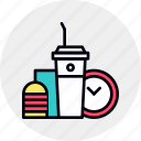 break, coffee, food, lunch, meal, snack, time icon