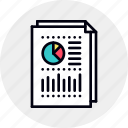 account, business, economics, financial, plan, report, retirement icon