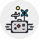 flight, holiday, luggage, suitcase, travel, trip, vacation icon