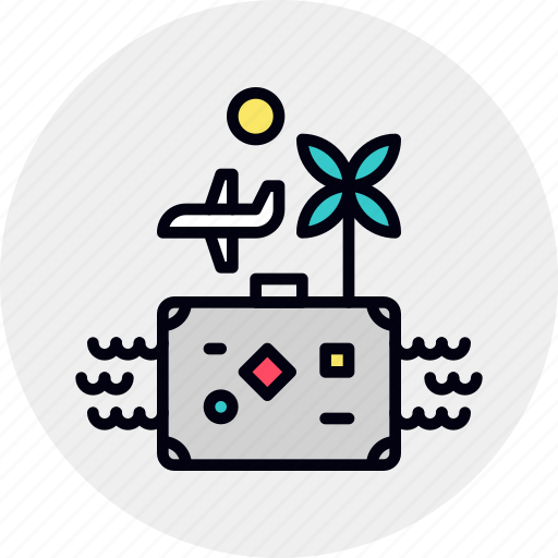 Flight, holiday, luggage, suitcase, travel, trip, vacation icon - Download on Iconfinder