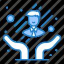 care, customer, employee icon