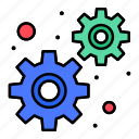 development, gears, settings icon