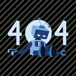 robot, empty state, 404, error, web, website, page not found, error page, webpage