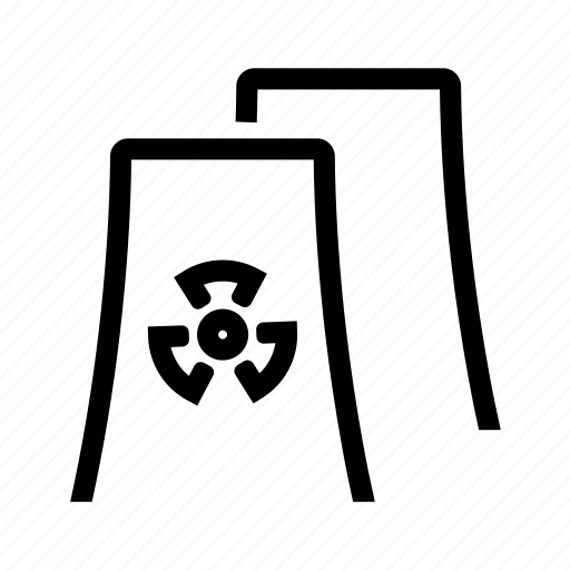 atom, atomic, energy, nuclear, plant, power icon