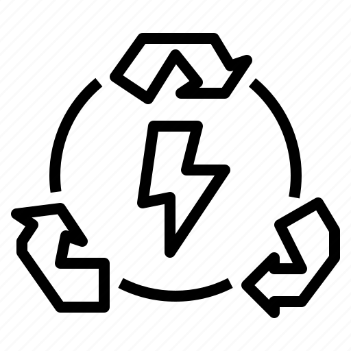 energy, process, recover, recycling icon