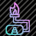 biogas, fece, fuel, gas, renewable icon