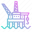 gas, oil, plant, platform, power icon
