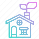 ecology, energy, environment, green, house icon