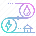ecology, energy, hydro, power, water icon