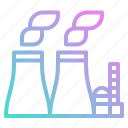 buildings, energy, industry, nuclear, tower icon