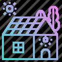 eco, energy, house, power, solar icon