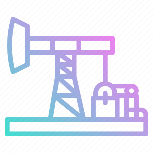extraction, industry, oil, petroleum, pumpjack icon