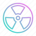 alert, energy, nuclear, radiation icon