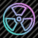 alert, energy, nuclear, radiation icon