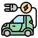 car, charge, electrical, electric, technology icon