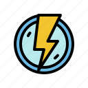 bolt, electrical, electricity, electronics, thunder icon