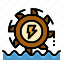 electronics, generation, hydro, plant, power icon