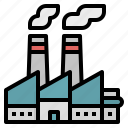 building, industry, industrial, factory, pollution icon
