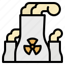 nuclear, plant, industry, energy, chimney icon