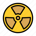 nuclear, energy, radiation, alert icon
