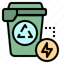 ecologism, ecology, environment, recycle, trash icon
