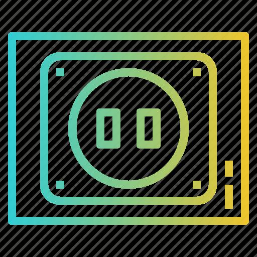 electronics, plugin, socket, technology icon