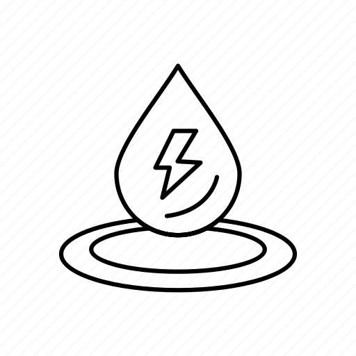 drop, energy, power, water icon