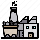 building, coal, construction, energy, factory icon