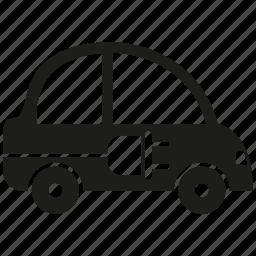 car, eco car, electric car, plug icon