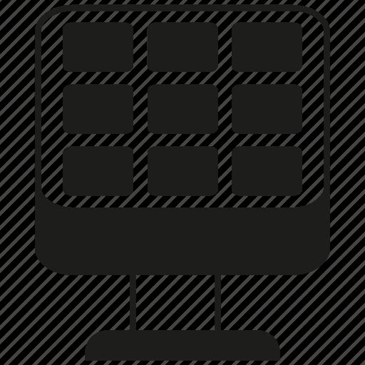 solar, solar panel icon