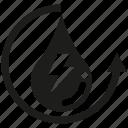 electricity, water, renewable, water drop