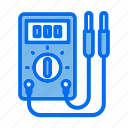 construction and tools, electric meter, electricity, electronics, energy, meter, technology icon