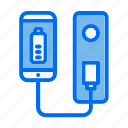 battery, charger, electronics, energy, power bank, recharge, smartphone charger icon