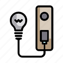 battery, electricity, energy, industry, light bulb, miscellaneous, power icon