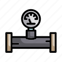 analogic, energy, indicator, manometer, measurement, pressure gauge icon
