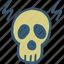 danger, deadly, death, fatal, no go area icon, risk, skull