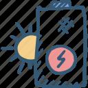 backup, battery, energy, solar, storage, sun icon