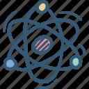 atom, electron, energy, power icon, science icon