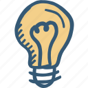 bulb, energy, idea, light icon icon