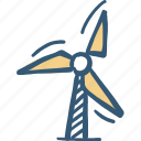 energy, mill, power plant icon, windmill