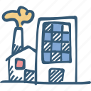 building, factory, industry, production icon icon