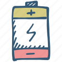 battery, charging, electric icon, energy