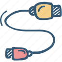 cable icon, cord, electricity, extension, wire