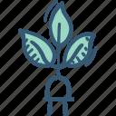 ecology, electricity, energy, green, plug icon icon