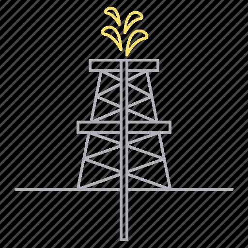 energy, extraction, gasoline, petrol icon