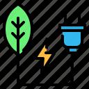 eco energy, ecology, energy, green, green energy, leaf, plug