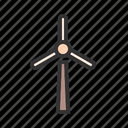 electricity, energy, generator, power, turbine, wind, wind mill icon