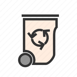 dustbin, energy, recycle, recycle bin, trash, waste, waste bin icon
