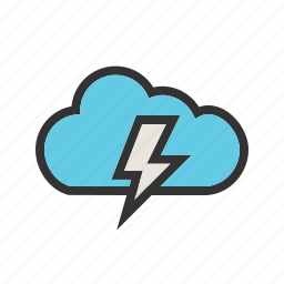 bolt, cloud, electric, electricity, energy, lightning, thunder icon
